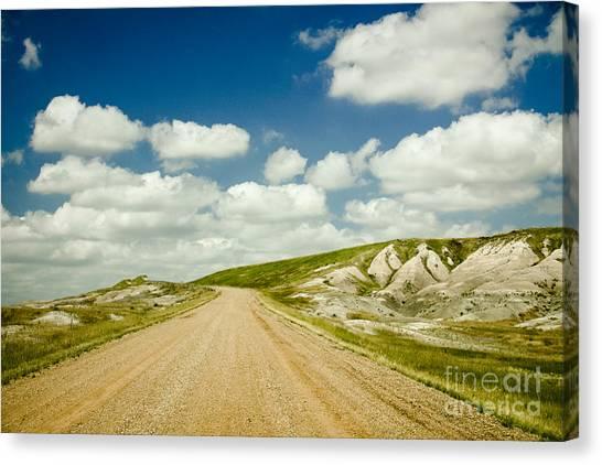 Long Road Ahead Canvas Print by Sandy Adams