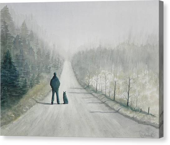 Long Road Home Canvas Print by Ally Benbrook