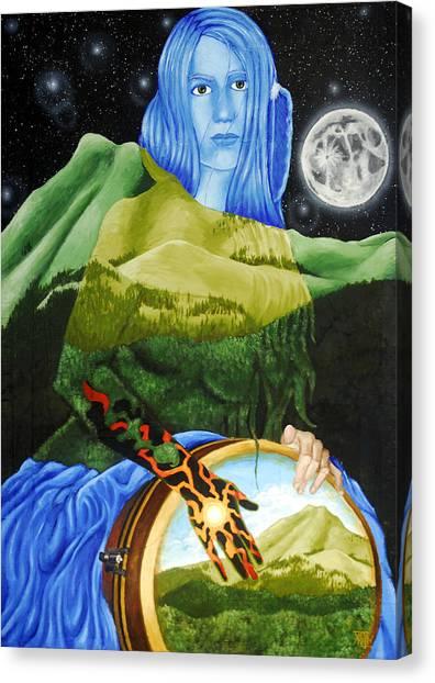 Djembe Canvas Print - Longdance by Kevin Baker