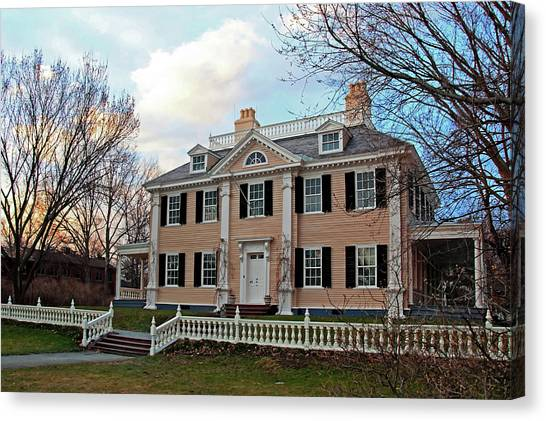 Longfellow House At Sunset Canvas Print