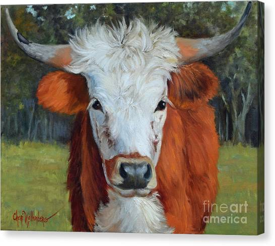 Longhorn Cow Painting II, Ms Tilly  Canvas Print