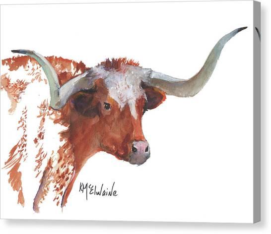 A Texas Longhorn Portrait Canvas Print