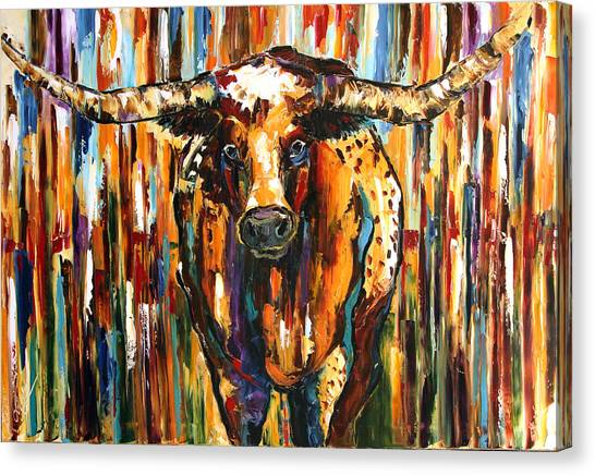 Canvas Print - Longhorn Way  by Laurie Pace