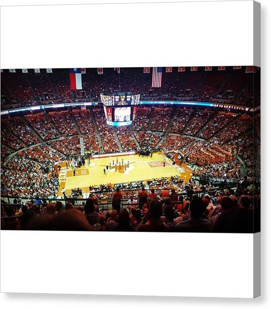 Basketball Canvas Print - Longhorns Win!  Thanks @mattypore For by Andrew Nourse