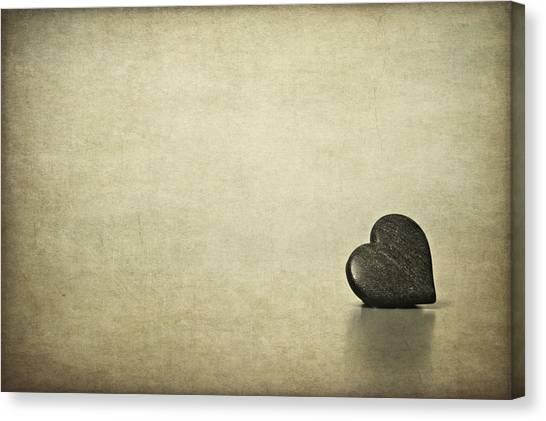 Heart Shape Canvas Print - Longing by Evelina Kremsdorf