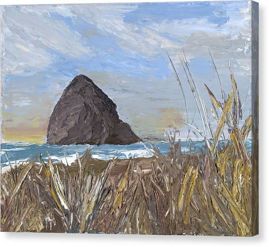 Longing For The Sounds Of Haystack Rock Canvas Print
