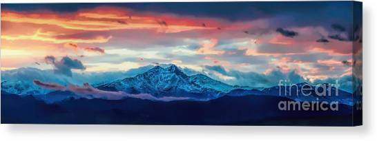 Longs Peak At Sunset Canvas Print