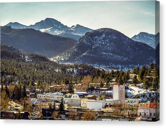 Longs Peak From Estes Park Canvas Print