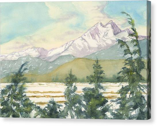 Long's Peak From Longmont Canvas Print