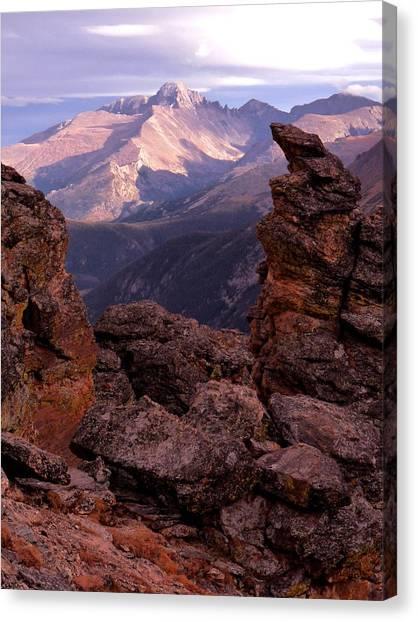 Longs Peak From Rock Cut  Canvas Print