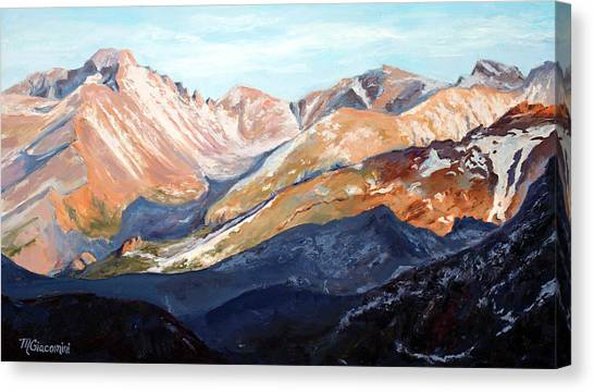 Longs Peak From Trail Ridge Road Canvas Print