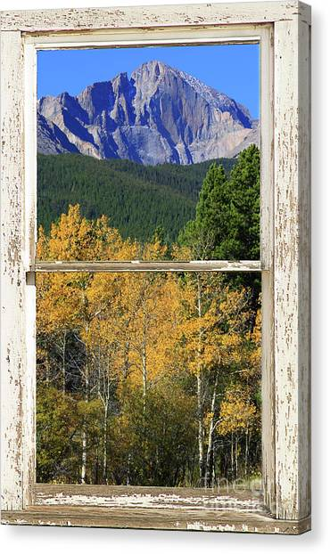 Longs Peak Window View Canvas Print