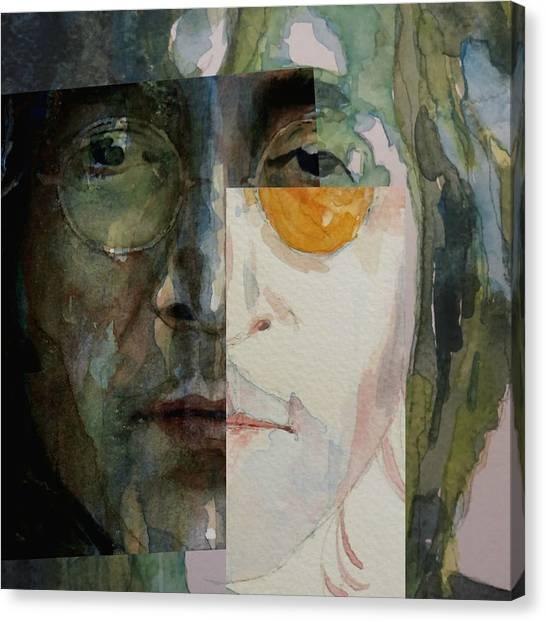John Lennon Canvas Print - Look @ Me by Paul Lovering