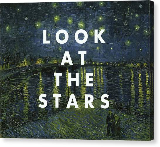 Coldplay Canvas Print - Look At The Stars Print by Georgia Fowler