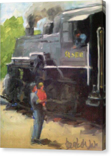 Look At The Train Canvas Print