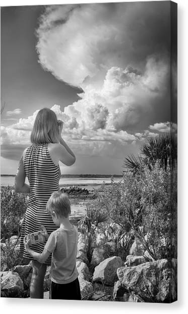 Canvas Print featuring the photograph Look Out by Howard Salmon