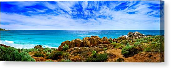 Cloudy Canvas Print - Look To The Horizon by Az Jackson