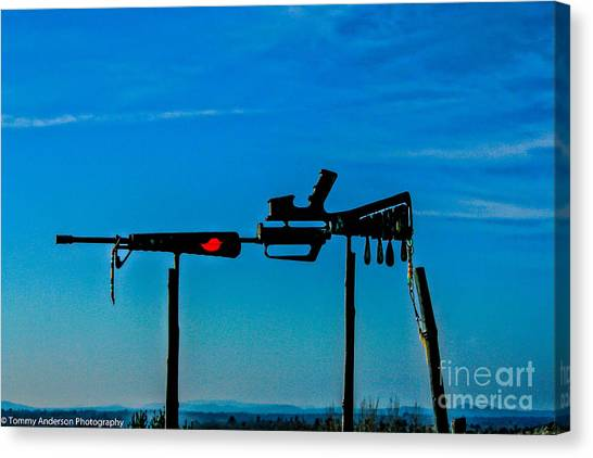 Medivac Canvas Print - Look Up To The Sky For Rescue by Tommy Anderson