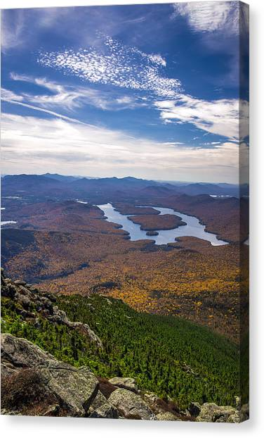 Lookin Down On Lake Placid Canvas Print