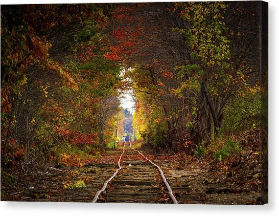 Looking Down The Tracks Canvas Print