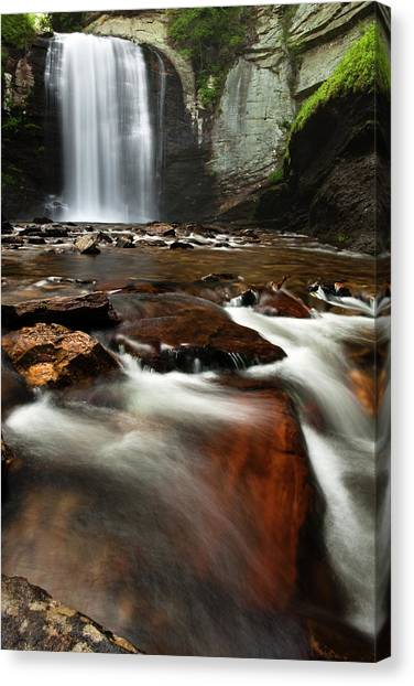 Pisgah National Forest Canvas Print - Looking Glass Falls by Andrew Soundarajan