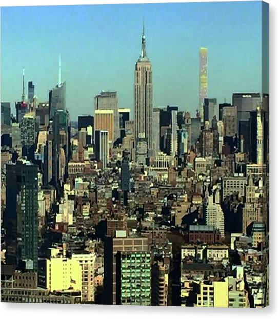 Looking Homeward From #1wtc Canvas Print by Gina Callaghan