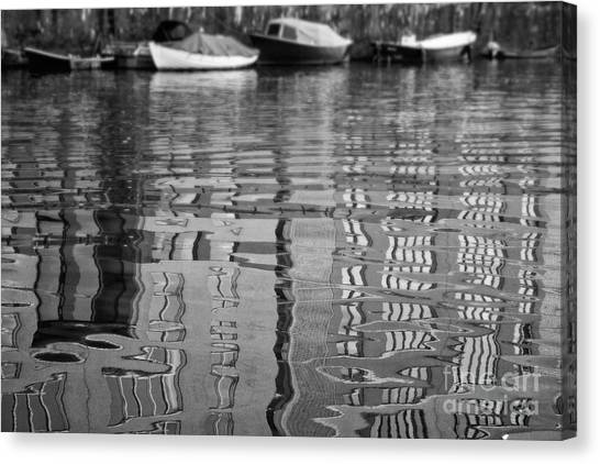 Looking In The Water Canvas Print