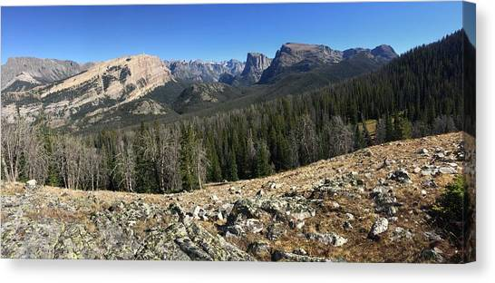 Looking Into The Bridger Wild Lands Canvas Print