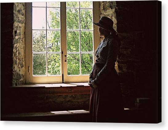 Looking Out Of The Window Canvas Print