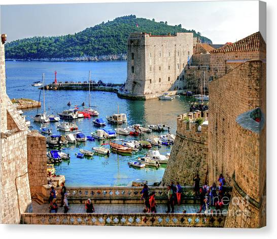 Looking Out Onto Dubrovnik Harbour Canvas Print