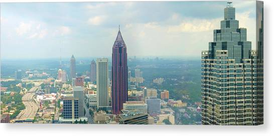 Interstates Canvas Print - Looking Out Over Atlanta by Mike McGlothlen