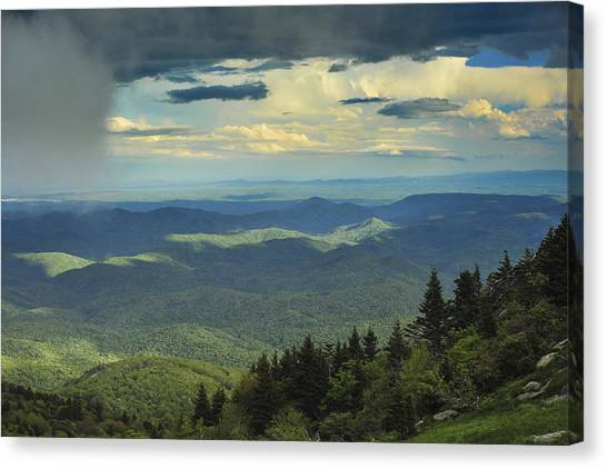 Looking Over The Valley Canvas Print