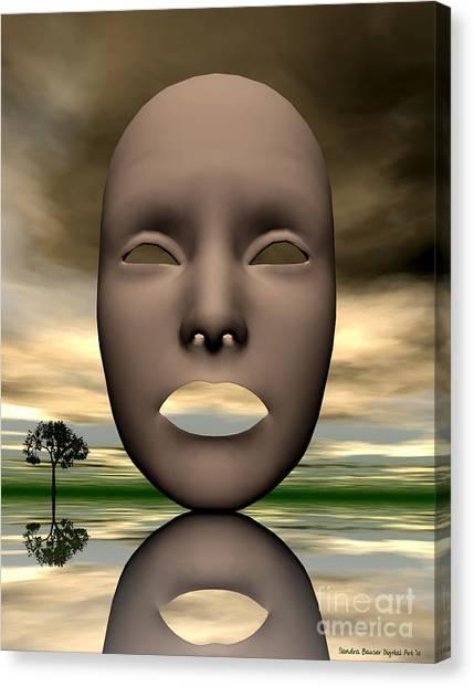Looking Through Canvas Print by Sandra Bauser Digital Art