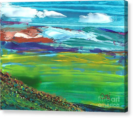 Canvas Print featuring the painting Lookout by Corinne Carroll