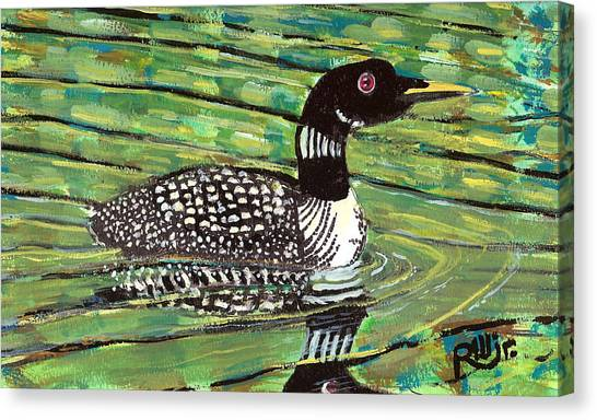 Loon Canvas Print by Robert Wolverton Jr