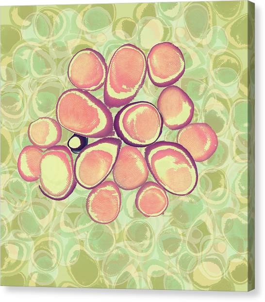 Loopy Dots #6 Canvas Print
