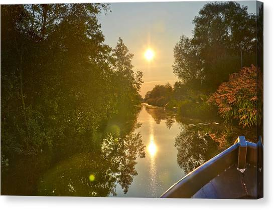 Loosdrecht Boat Trip Canvas Print