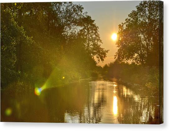 Loosdrecht Lensflare Canvas Print