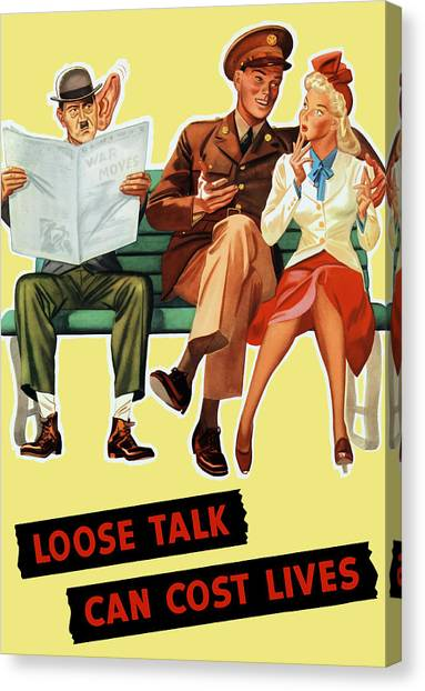 Loose Canvas Print - Loose Talk Can Cost Lives - World War Two by War Is Hell Store