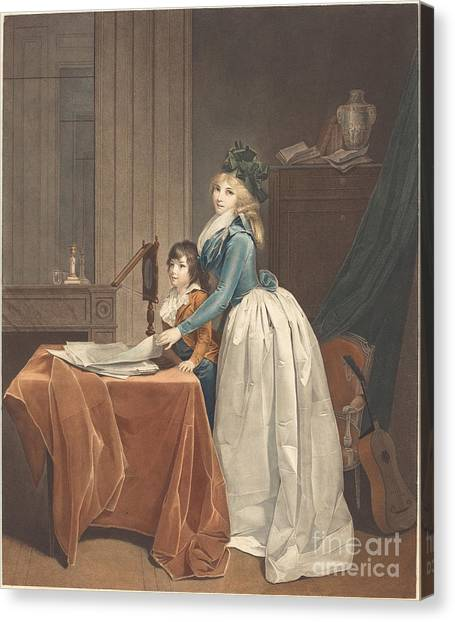 Canvas Print - L'optique (the Optical Viewer) by Fr?d?ric Cazenave After Louis-l?opold Boilly