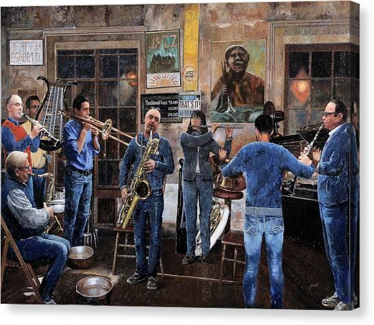 Trumpets Canvas Print - L'orchestra by Guido Borelli
