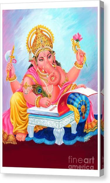 Lord Ganesh Canvas Print by Kalpana Talpade Ranadive
