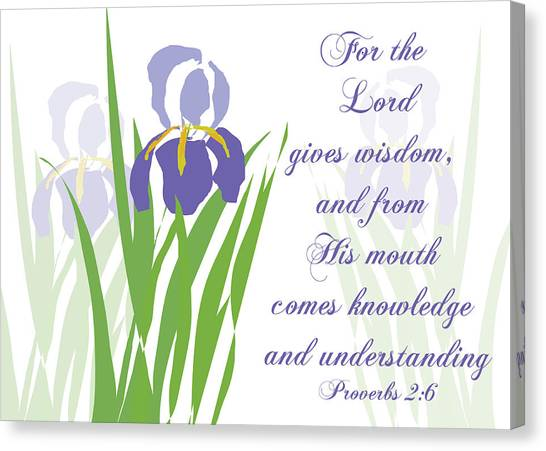 Lord Gives Wisdom Proverbs Canvas Print