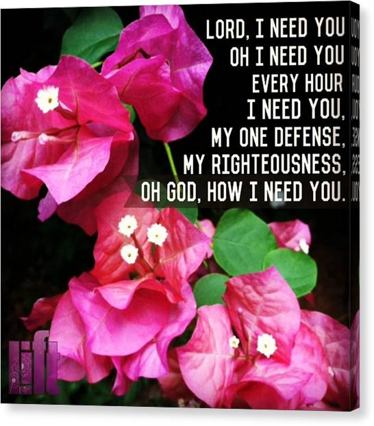 Mercy Canvas Print - lord, I Need You  Lord, I Come, I by LIFT Women's Ministry designs --by Julie Hurttgam
