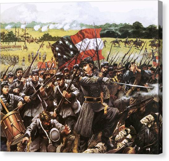Confederate Army Canvas Print - Loreta Janeta Velasquez Who Fought With The Confederate Army by American School