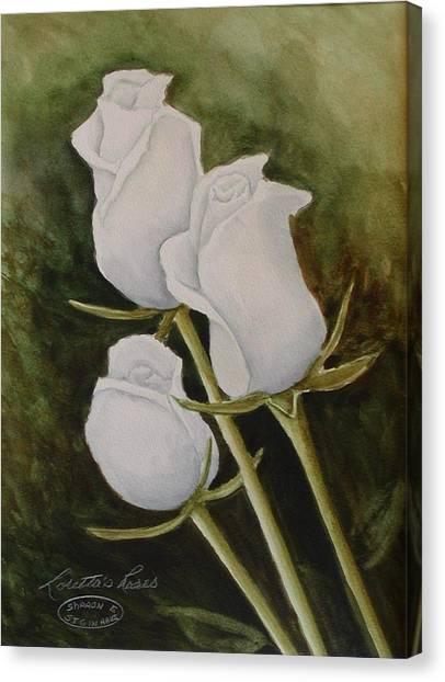 Lorettas Roses Canvas Print by Sharon Steinhaus