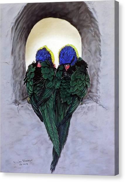 Lorikeets Canvas Print