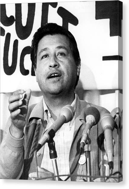 Los Angeles Cesar Chavez, Leader Canvas Print by Everett