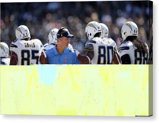 Los Angeles Chargers Canvas Print - Los Angeles Chargers by Emma Brown