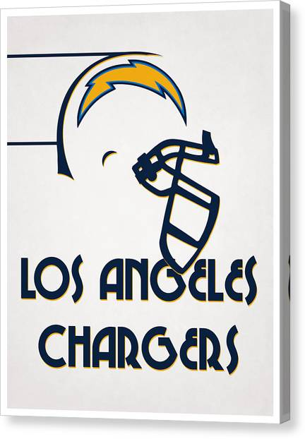 Los Angeles Chargers Canvas Print - Los Angeles Chargers Team Vintage Art by Joe Hamilton
